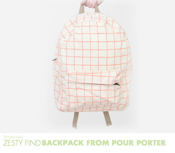 {zesty find} grid backpack from pour porter