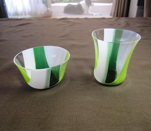 デザート小鉢 緑2種 by Poran111