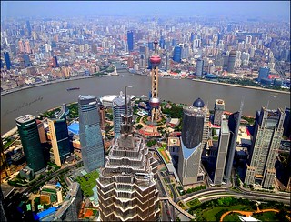 Spectacular views on Shanghai seen from the World Financial Center (7 pictures)
