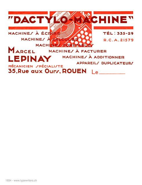 letterhead_Dactylo-Machine_1934