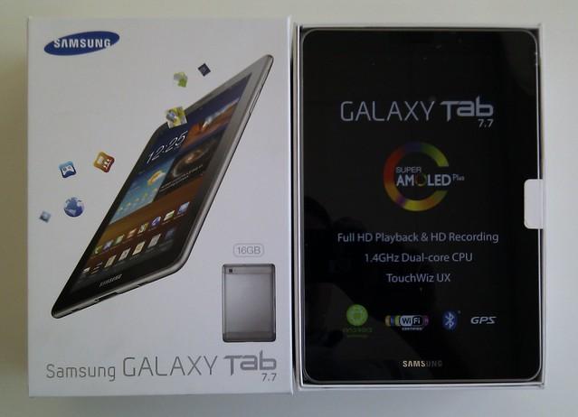 [Unboxing] Samsung Galaxy Tab 7.7 3g + wifi