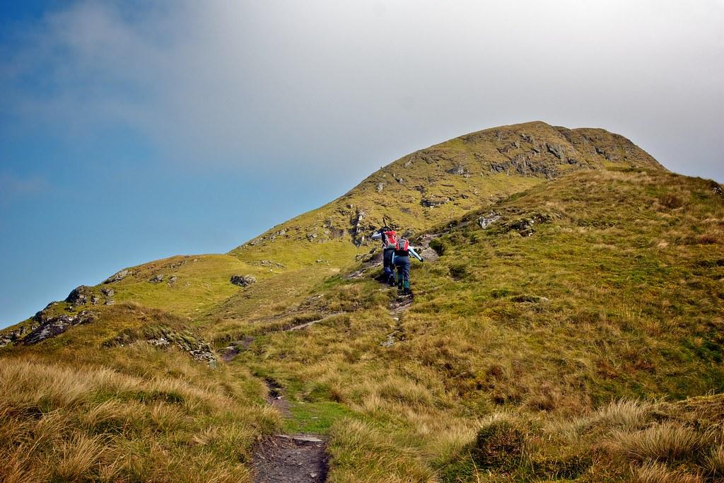 Ascending Beinn nan Eichan