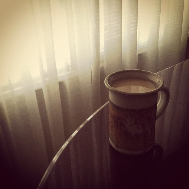 The morning cup.