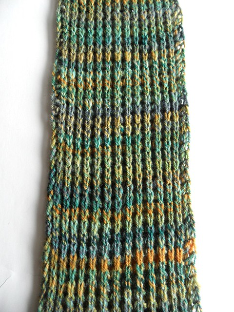 FCK-Quackenbush scarf-6x130 inches-Polwarth-3-ply