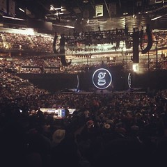 When your friend's hubby scores pretty good seats... 💁👍🎤 #garthbrooks