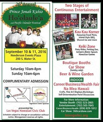September 10-11 Ho'olaule'a Pacific Islands Festival