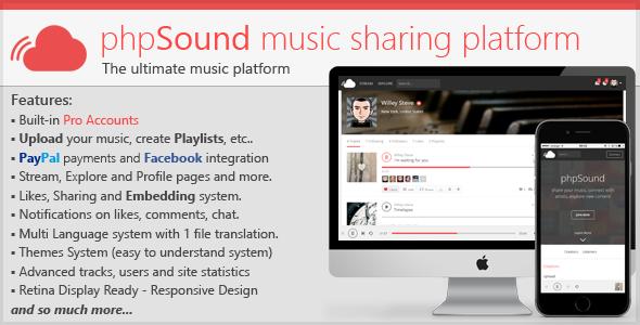 phpSound v1.3.4 - Music Sharing Platform