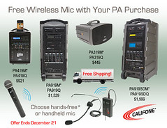 Free Wireless Mic & Shipping