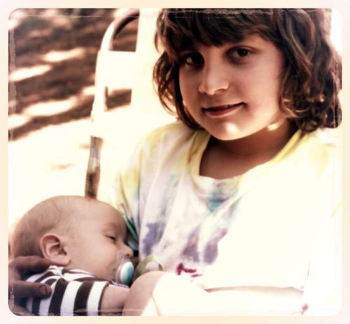 Lucas Holding Baby J