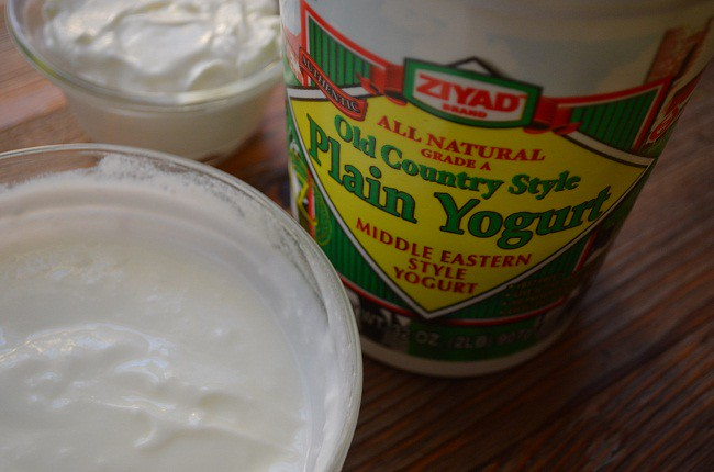 Yogurt and Sour Cream together