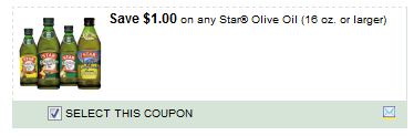 $1.00/1 Star Olive Oil 16 Oz. Or Larger Coupon