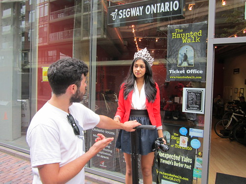 Megha Sandhu, 2013 Miss Teen Canada, Segway Ontario, Distillery District