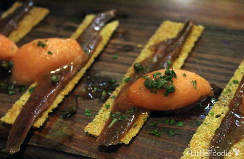 Anchoa – anchovy with tomato sorbet
