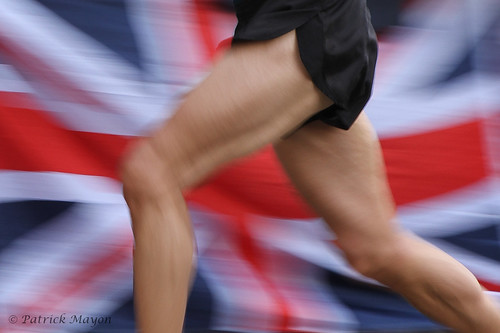 running for team GB.