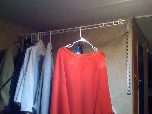 this was my solution on an open wall in the rear br it is a closet orgainzer from lowes the pictures in the link have comments