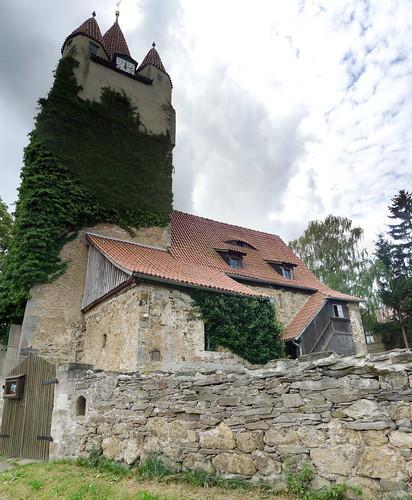 Monumentaal kerkje Oberoppurg Panorama
