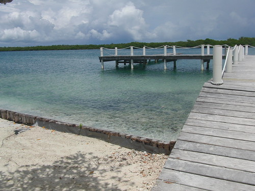 the dock on our private island in Belize, again, no big deal.