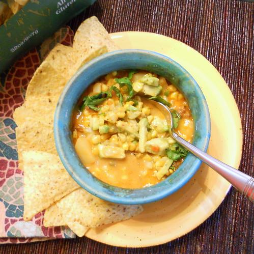 Chipotle Chorizo Corn Chowder