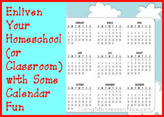 Enliven Your Homeschool (or Classroom) with Some Calendar Fun