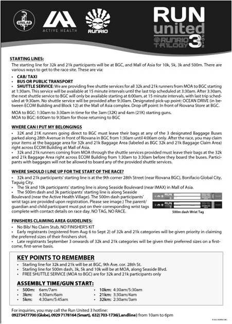 run united 3 info sheet flyer