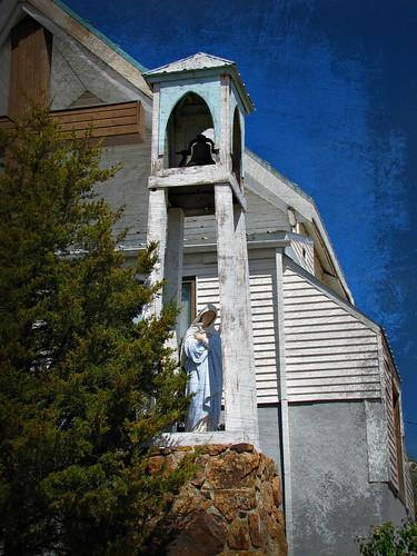 sky church architecture colorado belltower enhanced smalltown nucla