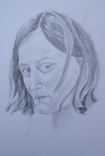 Self-portrait (three quarter view)