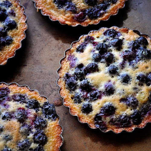 Browned Butter Blueberry Tarts Baked