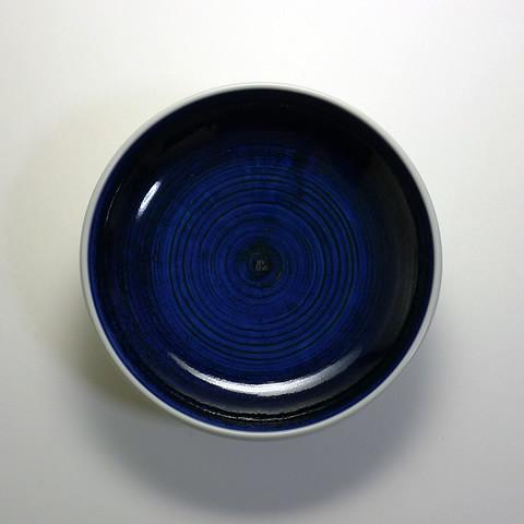 砥部焼 梅山窯「6寸深皿/呉須巻」