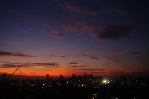 さっきのヒルズの夕焼け1