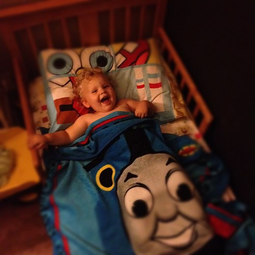 First night in a big boy bed. :)