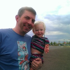 @troygronberg and Elliora and the Rockies in the distance.