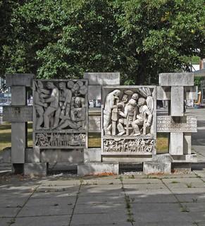 Sozialistische Skulptur in Chemnitz