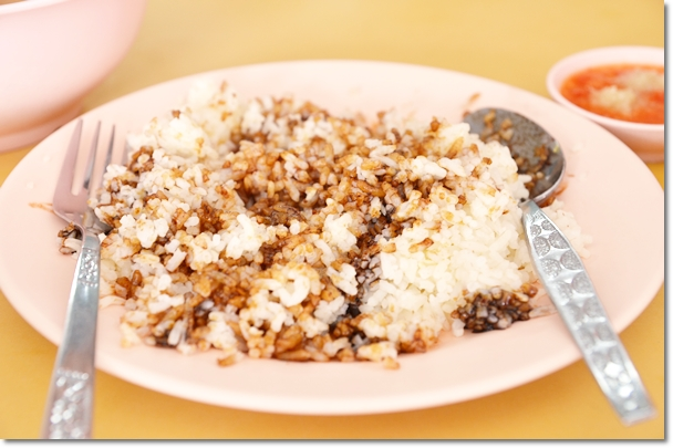 Oil Rice with Dark Soy Sauce