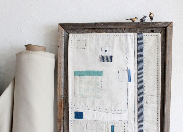 I love this mini quilt by Victoria Gertenbach.