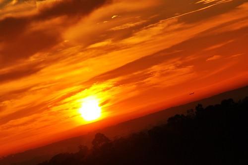 red sky sun clouds composition sunrise golden amazing colours angle awesome details sydney dramatic australia aeroplane tilt today dramaticsky slope fireinthesky illawong redsunrise tiltedangle balloffire silhouetteofplane layersofcolours 2dayssunrise