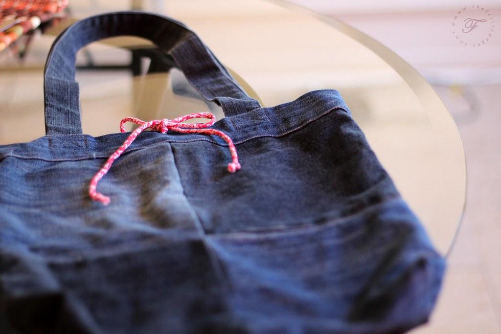 Repurposed Jeans Tote