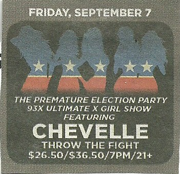 09-07-12 Chevelle/ Throw The Fight @ First Avenue, Minneapolis, MN