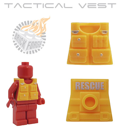 Tactical Vest - Bright Light Orange (RESCUE print)