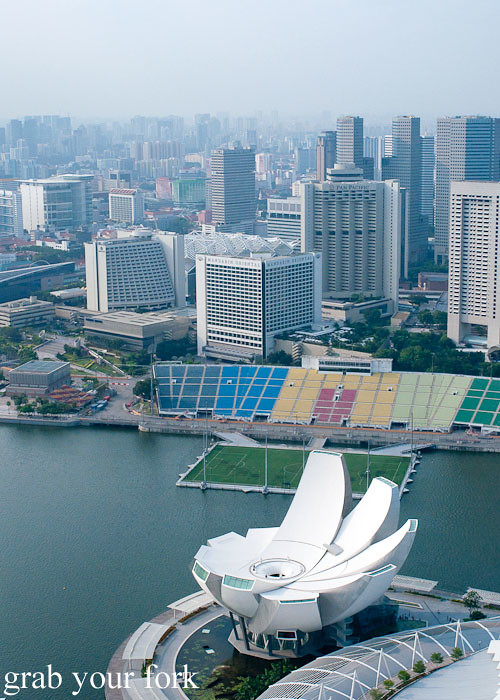 artscience museum and f1 singapore grand prix at marina bay sands singapore