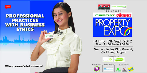CREDAI Lokmat Property Expo, Ladies Club Ground, Civil Lines Nagpur. Central India's Biggest Property Expo - 14th to 17th September 2012 by jungle_concrete