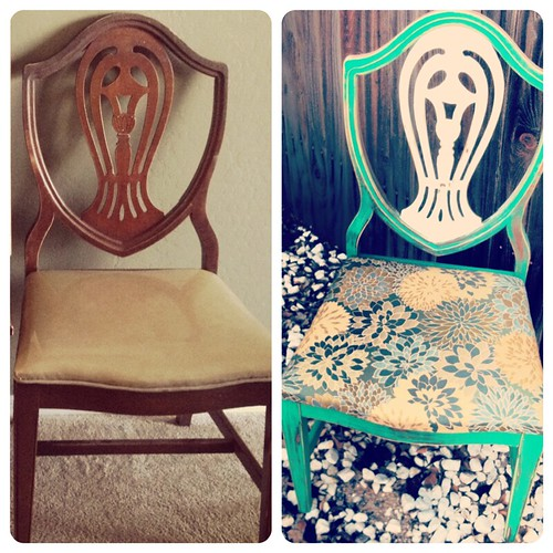 dining room chair before and after by Heather Says
