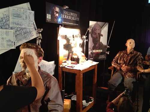 Halloween Horror Nights 2012 makeup preview at Universal Studios Hollywood