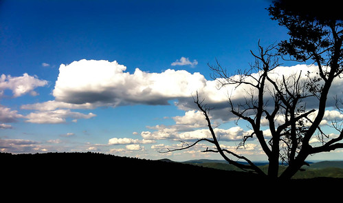 cloud mountain tree skyline drive virginia view unitedstates wakefield