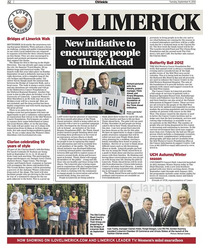 Limerick Chronicle Column 11 Sept 2012