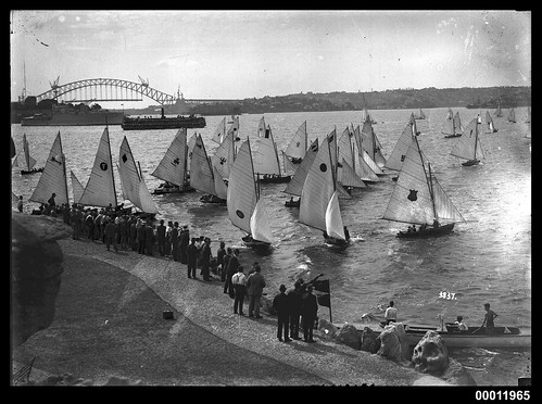 Start of a race at the Domain, Sydney Harbour