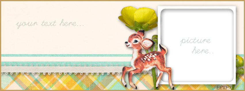 Free vintage deer facebook timeline  cover by FPTFY web ex 2
