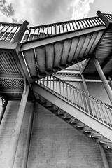 Steel stair in downtown Bryan, Texas
