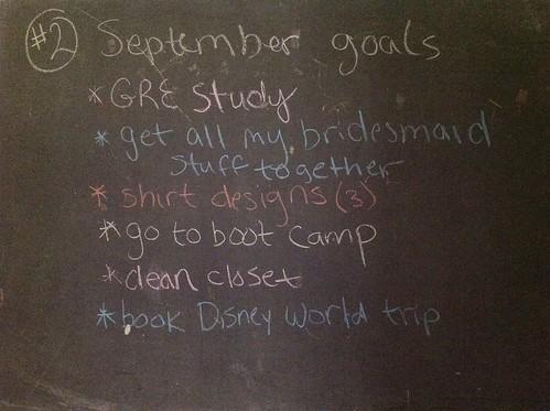 September Goals #30lists