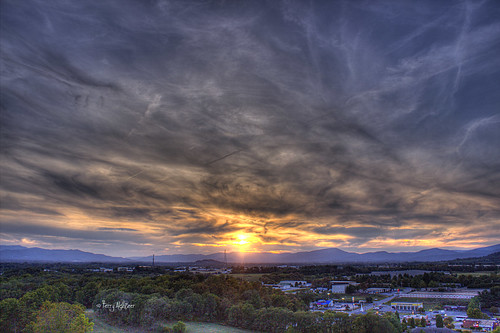 sunset summer sky sun mountains clouds sweet roanoke valley terry salem hdr vinton sweeet aldhizer terryaldhizercom