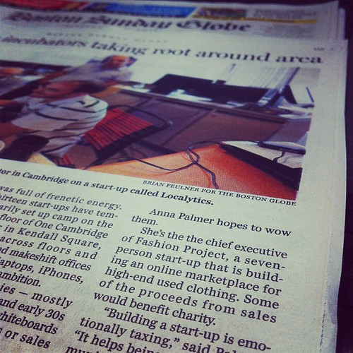 Fashion Project in today's Boston Globe by stevegarfield